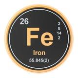 Ferrum, elemento químico del FE del hierro representación 3d libre illustration