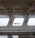 Ferry à bord de vue de fenêtre Photo libre de droits