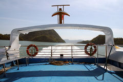 Ferry. On the deck of a ferry connecting the Langkawi Island and Peninsular Malaysia Royalty Free Stock Image