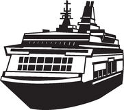 Ferry. Line Art Illustration of an Ferry royalty free illustration