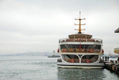 Ferry. Pier Kadikoy in Istanbul, Turkey Stock Photos