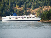 Ferry. Traveling the waters between Vancouver and Victoria BC royalty free stock photography