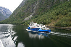 Ferry. A ferry in Norwegian fjord Stock Image