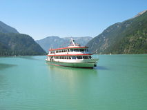 Ferry on Achensee, Austria. Tourist ferry on lake Achensee in Austria Stock Photos