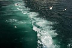 Ferry across the Bosphorus in Istanbul Stock Photo