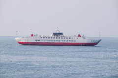 Ferry across the Kerch Strait Royalty Free Stock Image