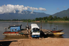 Ferry across the Mekong Royalty Free Stock Images