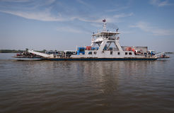 Ferry across the Mekong in Cambodia Stock Photography