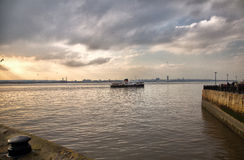 Ferry across the Mersey Stock Photography