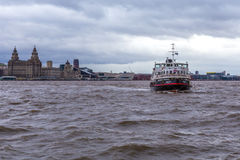 Ferry across the mersey royalty free stock photo