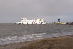 Ferry on Amrum Stock Image
