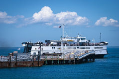 Ferry Arrival Martha's Vineyard Royalty Free Stock Photos