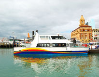 Ferry at Auckland harbor Royalty Free Stock Images