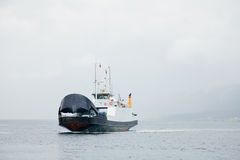 Ferry in bad weather Royalty Free Stock Photography