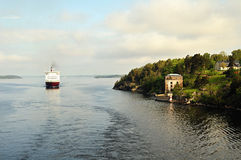 Ferry  in baltic sea Royalty Free Stock Photo