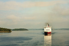 Ferry in baltic sea royalty free stock photography