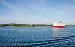 Ferry in the Baltic Sea, sunny day, Finland-Sweden Stock Photo