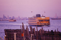 Ferry in bay Royalty Free Stock Photography