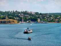 The ferry in a bay of Sevastopol Royalty Free Stock Images