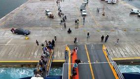 Ferry boarding stock video