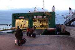 Ferry boarding in Morocco Stock Photos