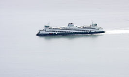 Ferry boat. In open waters Royalty Free Stock Images