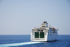 Ferry boat. Leaving the harbor Royalty Free Stock Images