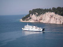 Ferry boat. On sea leaving Makarska, Croatia Royalty Free Stock Photography