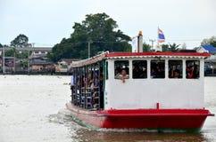 Ferry boat across Chao Phraya River Stock Photos