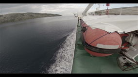 Ferry Boat on Adriatic Sea stock video footage