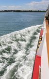 Ferry Boat also called Vaporetto in italian language during the royalty free stock photos