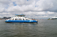 Ferry boat in amsterdam Royalty Free Stock Photos