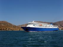 Ferry boat - Andros, Greece royalty free stock image