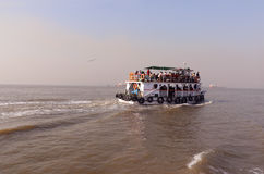 Ferry boat in Arabian Sea Royalty Free Stock Photos
