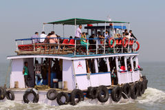 Ferry boat in Arabian Sea Royalty Free Stock Photography