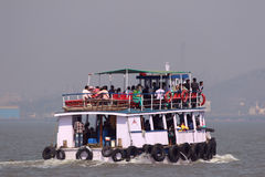 Ferry boat in Arabian Sea Stock Photos