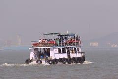 Ferry boat in Arabian Sea. Way to Elephanta Islands from Gateway of India, Mumbai Stock Photo