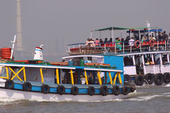 Ferry boat in Arabian Sea Royalty Free Stock Images