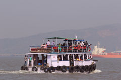 Ferry boat in Arabian Sea Royalty Free Stock Photo