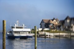 Ferry boat on Bald Head Island. Royalty Free Stock Photos