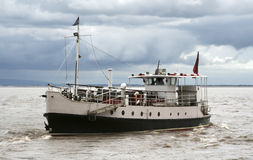 Ferry boat in the Bristol channel Stock Images