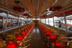 Ferry boat at Chao Phraya River, Chao Phraya River is a major river in Thailand,more ferry boat for transport service Royalty Free Stock Image