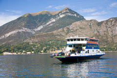 Ferry boat on Como Lake Stock Images