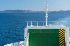 On ferry boat, Croatia. Royalty Free Stock Image