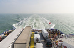 Ferry boat crossing the north sea Stock Images