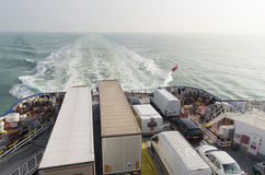 Ferry boat crossing the north sea Stock Photo