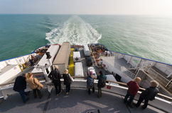 Ferry boat crossing the north sea Stock Image