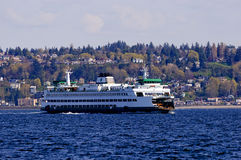Ferry boat crossing the Puget Sound Royalty Free Stock Photos