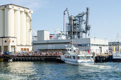 Ferry boat crowd Royalty Free Stock Photography