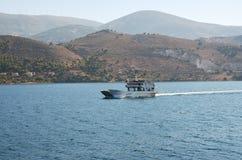 Ferry-boat d'île de Kefalonia Images libres de droits